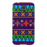 Modelo tribal azteca del arco iris púrpura carcasas de galaxy s5