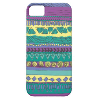 Modelo tribal azteca iPhone 5 carcasas