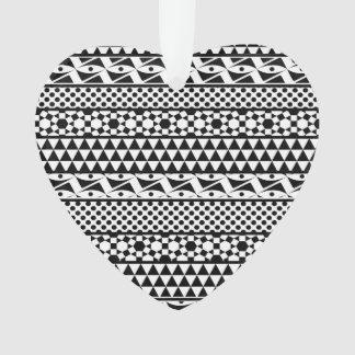 Modelo tribal azteca geométrico blanco negro de la
