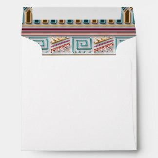 Modelo tribal azteca geométrico coloreado multi de