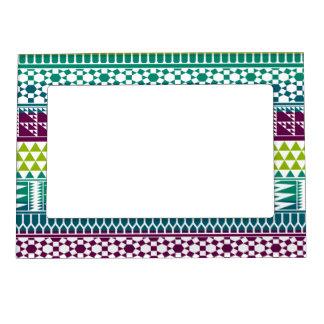 Modelo tribal azteca geométrico de la impresión de marcos magnéticos para fotos