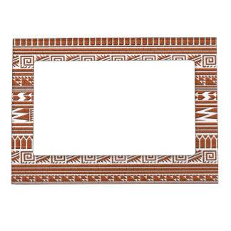 Modelo tribal azteca geométrico de la impresión marcos magnéticos de fotos