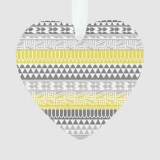 Modelo tribal azteca geométrico gris amarillo de