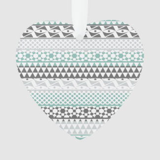 Modelo tribal azteca geométrico gris de la