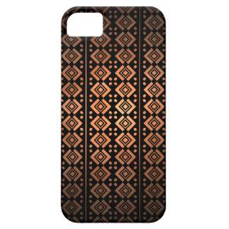 modelo tribal azteca negro anaranjado iPhone5 iPhone 5 Protector