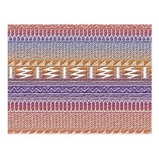 Modelo tribal azteca púrpura anaranjado de la tarjeta postal