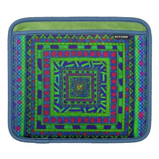 Modelo tribal azteca rojo azulverde de los funda para iPads
