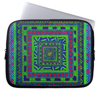 Modelo tribal azteca rojo azulverde de los funda portátil