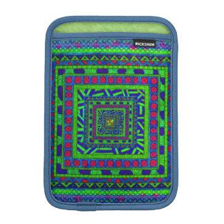 Modelo tribal azteca rojo azulverde de los fundas iPad mini