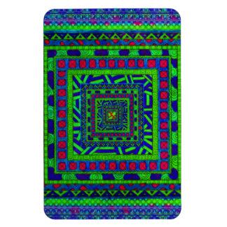 Modelo tribal azteca rojo azulverde de los imanes