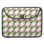 Modelo tribal azteca verde rosado del bloque de lo fundas para macbook pro
