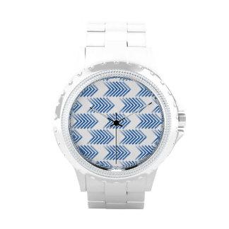 Modelo tribal azul de la flecha relojes de pulsera
