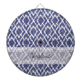Modelo tribal azul del diamante de Ikat de la Tablero De Dardos