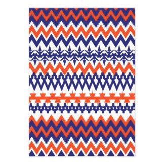 Modelo tribal azul y anaranjado intrépido de Chevr Comunicados