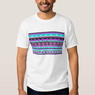 Modelo tribal azul y púrpura brillante camisas