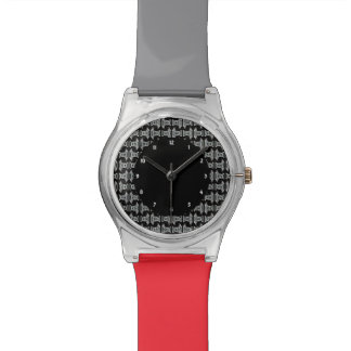 Modelo tribal blanco negro relojes