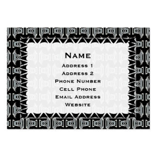 modelo tribal blanco negro tarjetas de visita grandes