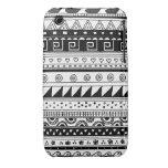 Modelo tribal blanco y negro Case-Mate iPhone 3 cobertura