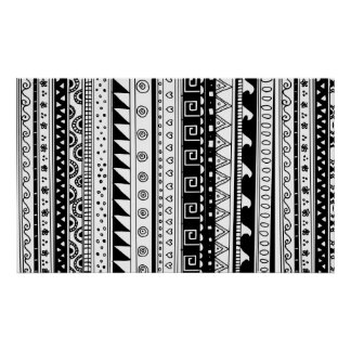 Modelo tribal blanco y negro poster