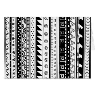 Modelo tribal blanco y negro tarjetas