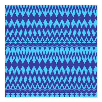 """Modelo tribal brillante del trullo y de los azules invitación 5.25"""" x 5.25"""""""