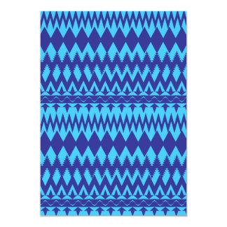 """Modelo tribal brillante del trullo y de los azules invitación 5"""" x 7"""""""