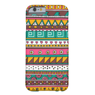 Modelo tribal colorido funda de iPhone 6 barely there
