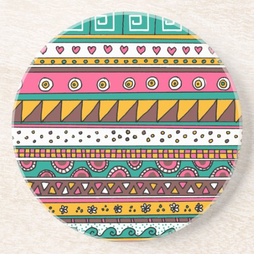 Modelo tribal colorido posavasos diseño