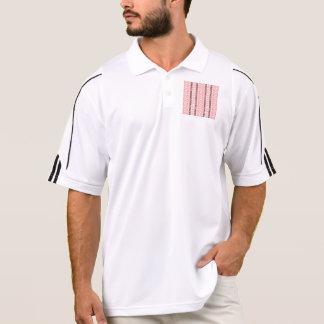 modelo tribal de la frontera vertical, (i) rosado playeras tipo polo