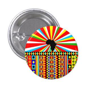 Modelo tribal de la impresión del paño de Kente Pin Redondo De 1 Pulgada