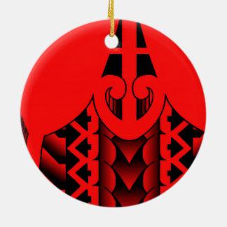 modelo tribal de la punta de lanza con las plumas adorno redondo de cerámica