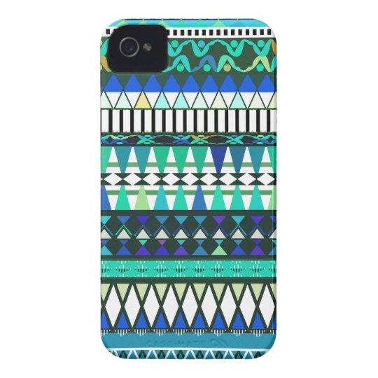 Modelo tribal de la turquesa carcasa para iPhone 4 de Case-Mate