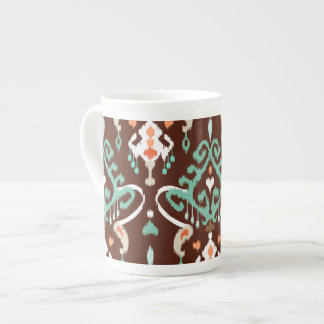 Modelo tribal de la turquesa del ikat moderno eleg taza de porcelana
