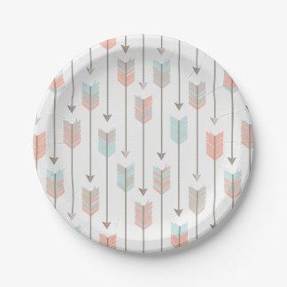 Modelo tribal de las flechas platos de papel