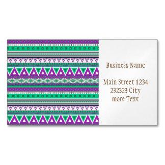 modelo tribal de lujo de la frontera 08 (i) tarjetas de visita magnéticas (paquete de 25)