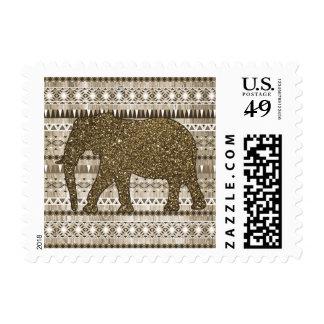 Modelo tribal del elefante caprichoso en el diseño