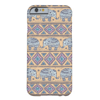 Modelo tribal del elefante étnico azul funda barely there iPhone 6