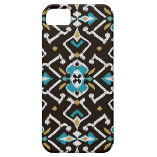 Modelo tribal del ikat negro geométrico elegante iPhone 5 funda