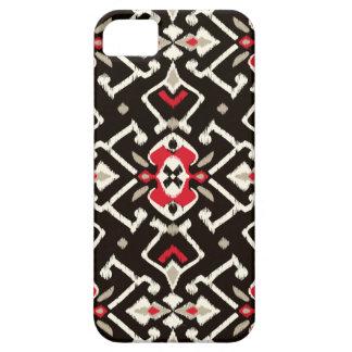 Modelo tribal del ikat rojo negro geométrico elega iPhone 5 Case-Mate carcasas