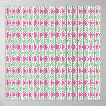 Modelo tribal del triángulo gris verde rosado boni posters
