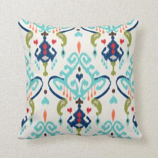 Modelo tribal del trullo del ikat moderno elegante almohada