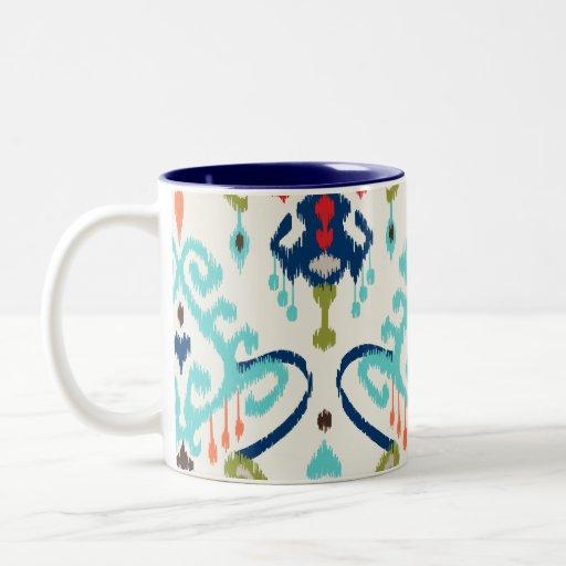 Modelo tribal del trullo del ikat moderno elegante tazas de café