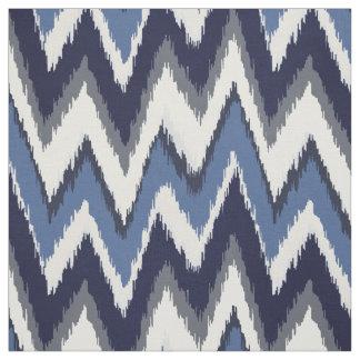 Modelo tribal elegante del galón del ikat azul y telas