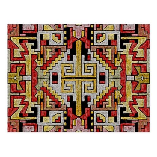 Modelo tribal/étnico de Geomethric Tarjeta Postal