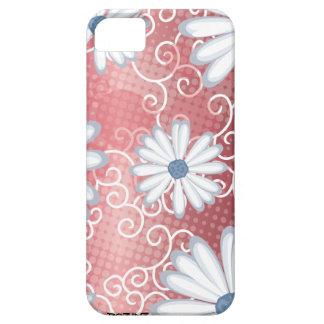 Modelo tribal floral azul blanco rojo del tatuaje  iPhone 5 Case-Mate protectores