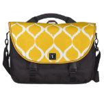 Modelo tribal geométrico amarillo de oro de la bolsas para portatil