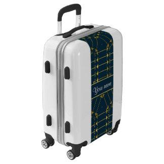 Modelo tribal geométrico de las flechas del oro maletas