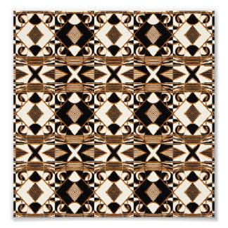 Modelo tribal geométrico del estilo en los colores fotografía