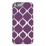 Modelo tribal geométrico púrpura de la impresión funda para iPhone 6 barely there