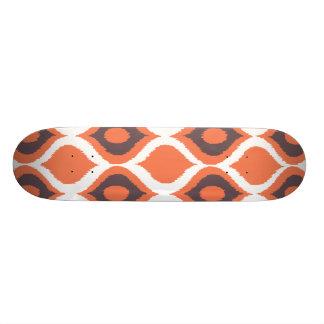 Modelo tribal geométrico retro anaranjado de la monopatines personalizados